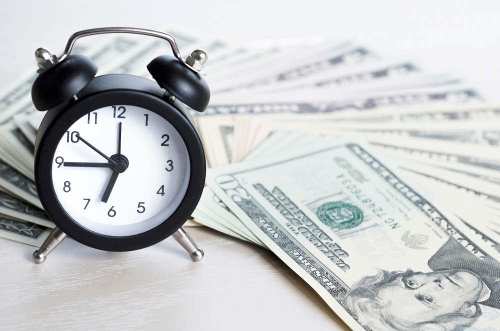 clock, cash, loan