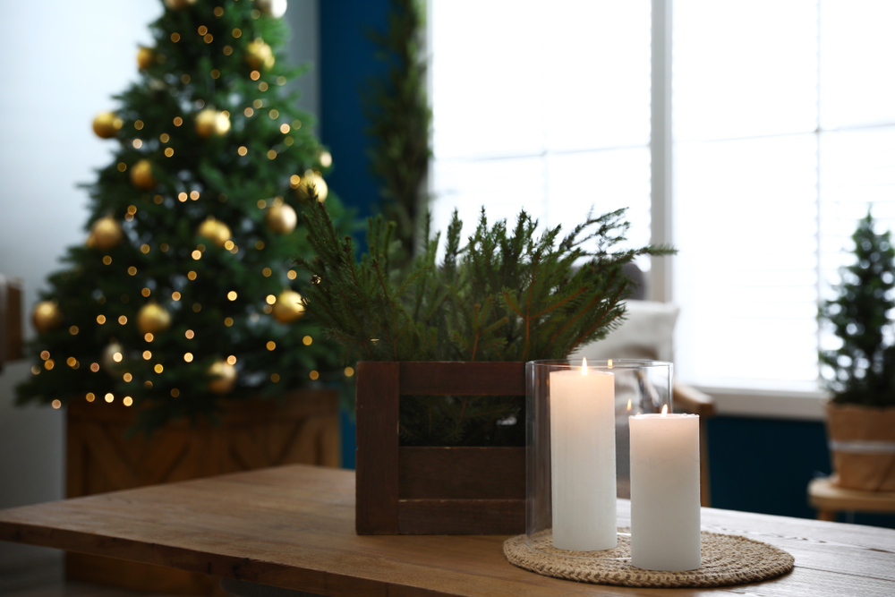 holiday decor, home interior, greens