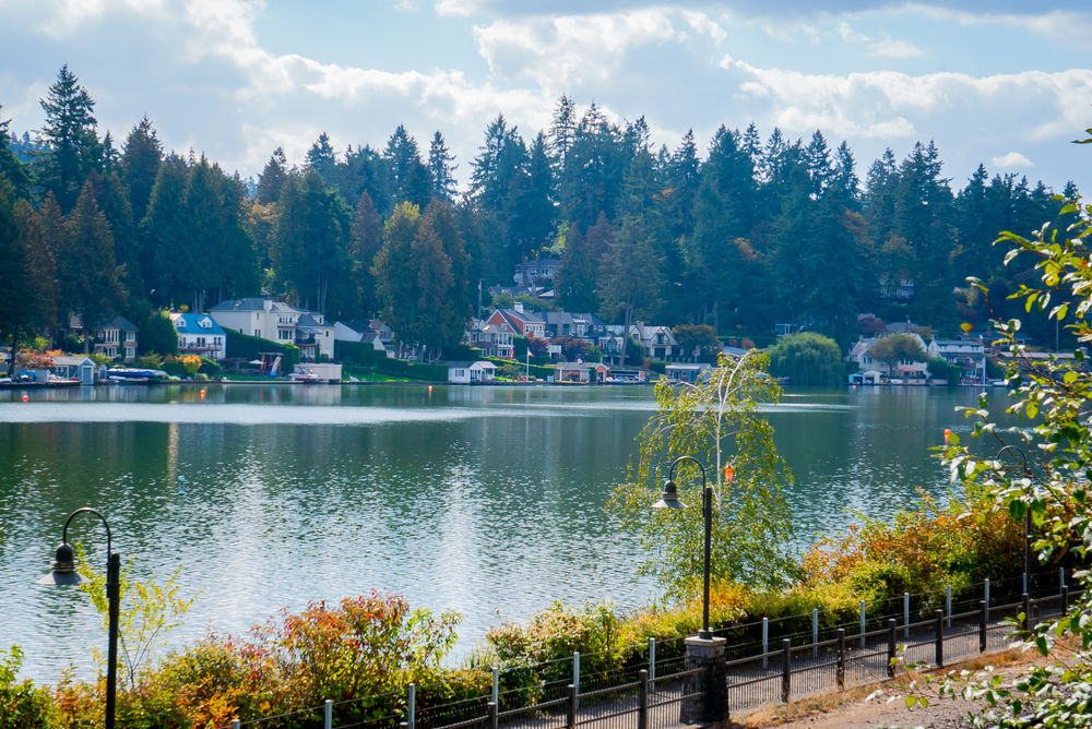 Homes around Oswego Lake, Lake Oswego, Oregon, real estate