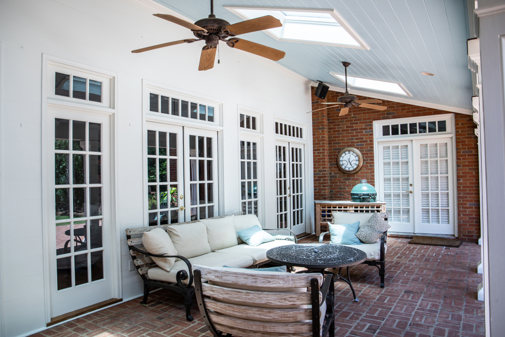 sunroom, ceiling fan, how to keep cool